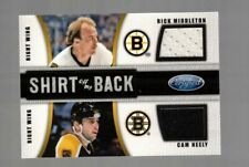 CAM NEELY / RICK MIDDLETON 2011-12 CERTIFIED SHIRT OFF MY BACK DUAL AUTO # 24/25