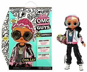 LOL Surprise OMG Guys Fashion Doll Cool Lev First Boy LOL Doll 20 Surprises NEW