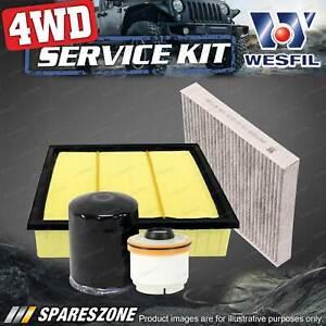 Wesfil Oil Air Fuel Cabin Filter Service Kit for Isuzu D-Max MU-X TD Ref RSK28C