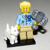 LEGO NEW SERIES 16 DOG SHOW WINNER MINIFIGURE 71013 FIGURE WHITE DOG