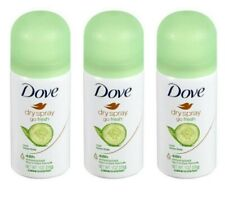 3 Dove Dry Spray 48 Hour Antiperspirant Go Fresh Cool Essentials 1 oz Travel