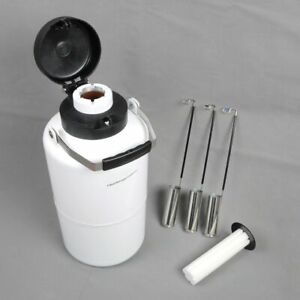 WOO New 3.15 L Cryogenic Container Liquid Nitrogen Tank with Straps Portable