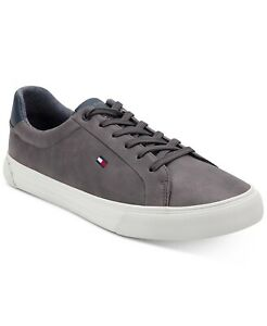 Tommy Hilfiger Ref Men Casual Low Top Sneakers Size US 13M Gray Faux Leather
