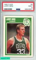 1989 FLEER LARRY BIRD #8 BOSTON CELTICS PSA 9 MINT 3158