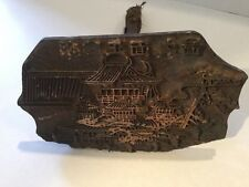 Antique Chinese Japanese Oriental Cast Iron Textile Wallpaper Press Stamp