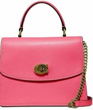 NWT COACH 52664 Leather Parker Top Handle Satchel Orchid/Gold