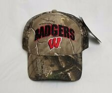 Wisconsin Badgers Camo Collegiate Hat 3D Embroidered Mesh Cap