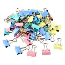 60 Pcs Metal Assorted Color File Paper Binder Clips N3