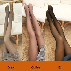Flawless Legs Fake Translucent Warm Fleece Pantyhose Thick Women Winter Tights
