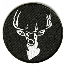 Embroidered Round Deer Sew or Iron on Patch Biker Patch