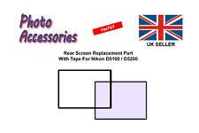 Schermo posteriore pezzo di ricambio con nastro per Nikon D5100 fotocamera digitale D5200