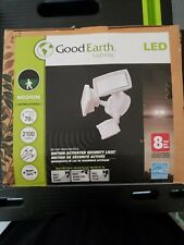 Good Earth Lighting 180° 2 Head White LED Motion-Activated Flood Light New