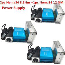 3 Axis 2pc Nema34 8.5Nm 1pc12NmDSP Closed Loop Stepper Drive Motor+Power Supply