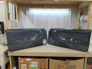 1987-1993 Ford Mustang BLUE Door Panels Door Cards  Factory SSP 5.0 #2151