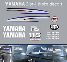 YAMAHA 115hp FOUR STROKE and TWO STROKE outboard decals/stickers