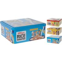 Kitchen Storage Tin Retro Cereal Box Tea Coffee Sugar Jar Square 20x20cm