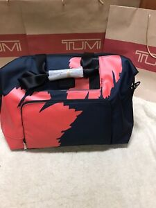 New w/o Tags Tumi Double Expansion Palm Satchel Bag GRAPHIC CONGO PRINT