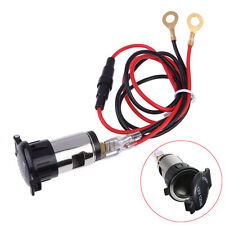 12V 120W Car Boat Tractor Cigarette Lighter Power Socket Outlet Plug CNUS Wire