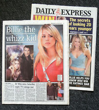 DAILY EXPRESS NEWSPAPER 28 MAR 2005 . DOCTOR WHO BILLIE PIPER FRONT COVER PHOTO