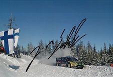 Jari Matti Latvala Hand Signed 12x8 Photo Ford Abu Dhabi Rally 2.