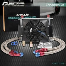 """Gplus 28 Row AN10 Engine Oil Cooler + Filter Adapter Kit + 7"""" Fixed Cooling Fan"""