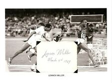 Lennox Miller Autograph Summer Olympic Track Silver Medal Jamaica USC Trojans #2
