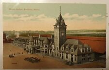 Postcard of Union Station in Portland, Maine