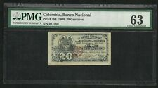 Colombia 20 Centavos 1900 ; PMG : Choice UNC 63