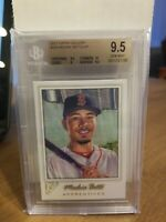 2017 Topps Gallery Apprentices SP #193 Mookie Betts BGS 9.5 Gem Mint Pop 3