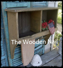 Primitive Grungy Prairie Cubby Shelf Cupboard Pattern/Plan WN154