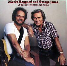 MERLE HAGGARD and GEORGE JONES A Taste Of Yesterday's Wine LP