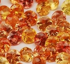 MANDARIN ORANGE SPESSARTITE GARNET 4 MM ROUND CUT ALL NATURAL