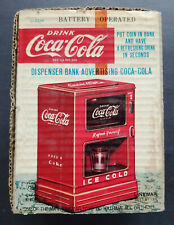 Coca Cola Battery Operated Dispenser Bank - Marx - Linemar - 1950's - AMAZING