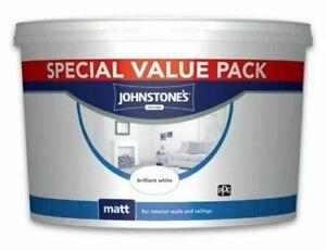 Johnstone's Vinyl Matt 7.5L - Brilliant White ** Interior **