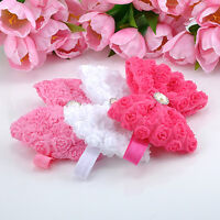 Soft Elastic Headband Hair Accessories Cute Baby Girls Rose Flower Bow Hairband