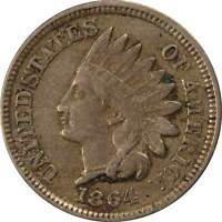 1864 Indian Head Cent VF Very Fine Copper-Nickel Penny 1c Coin Collectible