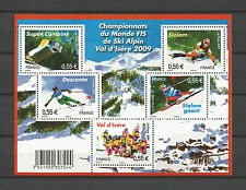 FRANCE 2009...Miniature Sheet n° F4329 MNH...Alpine Skiing Championship