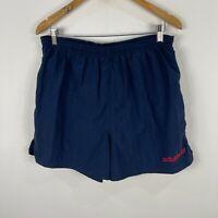 VINTAGE Adidas Mens Shorts Mens M/L 7 Blue Elastic Waist Drawstring Pockets