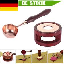 Vintage Schmelzlöffel Ofen Wachs Siegellack Löffel Siegelstempel Holzgriff Tools