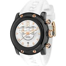 GLAM ROCK UNISEX MIAMI BEACH 46MM WHITE SILICONE BAND QUARTZ WATCH GR25146
