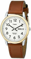 Timex Men's T20011 Easy Reader Brown Leather Strap Watc