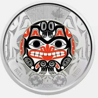 💥2020 Bill Reid Toonie canada $2 coloured coin from mint rolls UNC.💥hurry.💥
