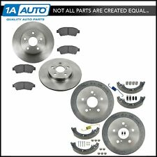 Front & Rear Disc Brake Pad Rotor & Drum Shoe & Hardware Kit for Toyota Camry