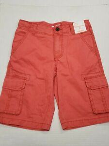 NWT Gymboree Red Bermuda Fit Cargo Shorts Youth Boys Size 8 New With Tags