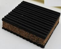 4 ANTI VIBRATION PADS CORK 3X3X7/8 HVAC SPEAKER COMPRESSOR PUMP AUDIO SPEAKER