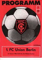 OL 82/83 HFC Chemie - 1. FC Union Berlin