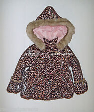 JUICY COUTURE – PUFFER COAT FUR HOODIE - ANIMAL PRINT - TODDLER 24 MO – NEW $158