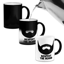 Respect The Beard....Novelty Heat Colour Changing Mug