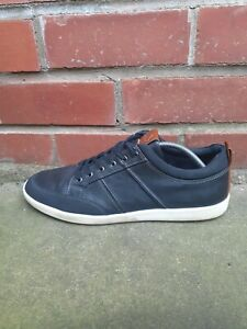 Men Dune Leather Black Sneakers Size 11