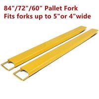 "60""/72""/84"" Steel Pallet Fork Extensions for forklifts lift truck slide on clamp"